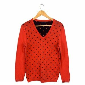 Tommy Hilfiger • Polka Dot V Neck Sweater